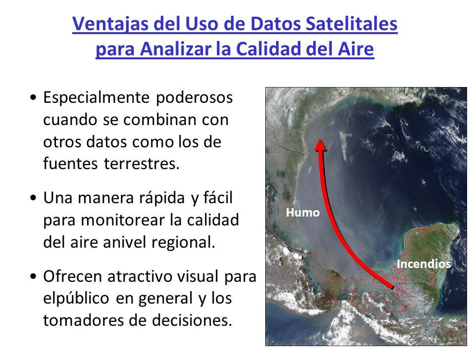 Ventajas del Uso de Datos Satelitales para Analizar la Calidad del Aire Especialmente poderosos cuando se combinan con otros datos como los de fuentes