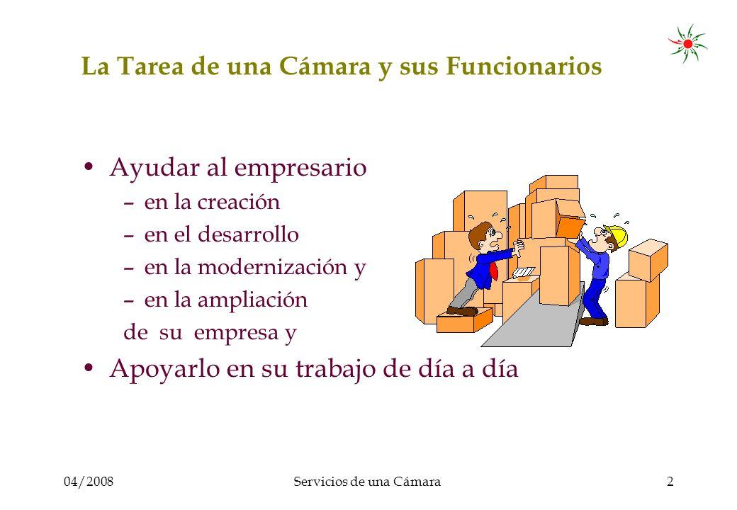 04/2008Servicios de una Cámara3 La Estructura de los Servicios