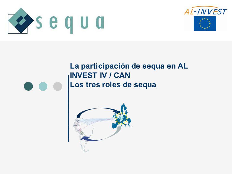 La participación de sequa en AL INVEST IV / CAN Los tres roles de sequa