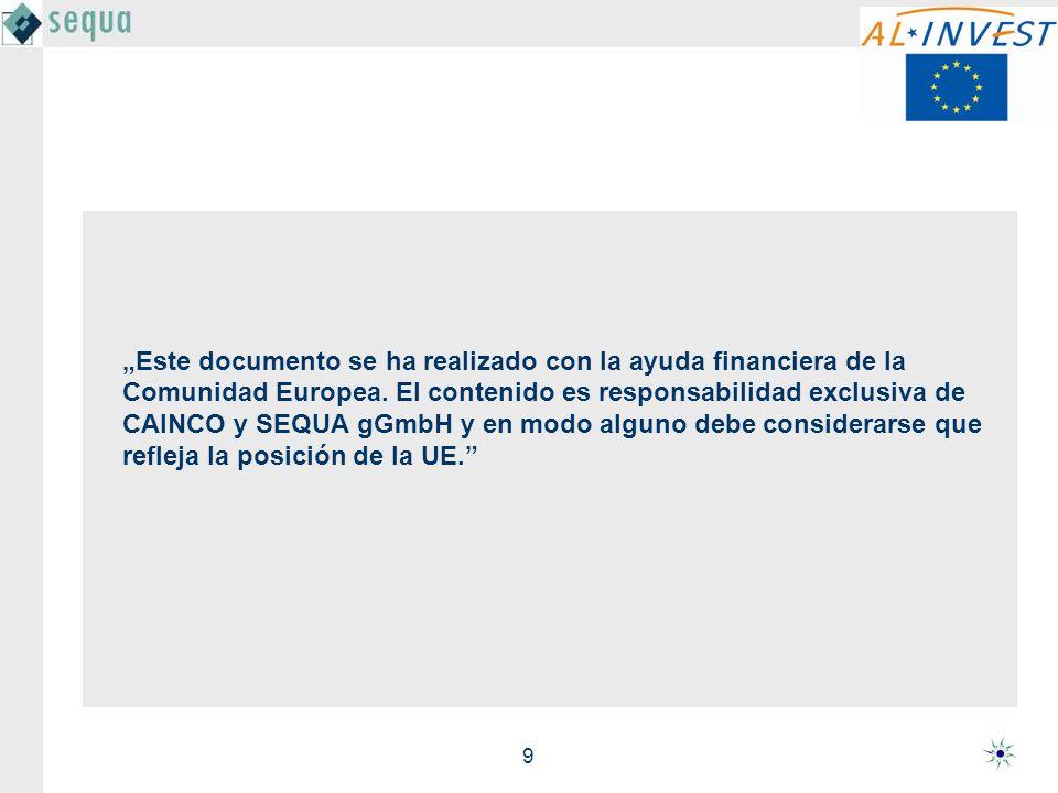 9 Este documento se ha realizado con la ayuda financiera de la Comunidad Europea.