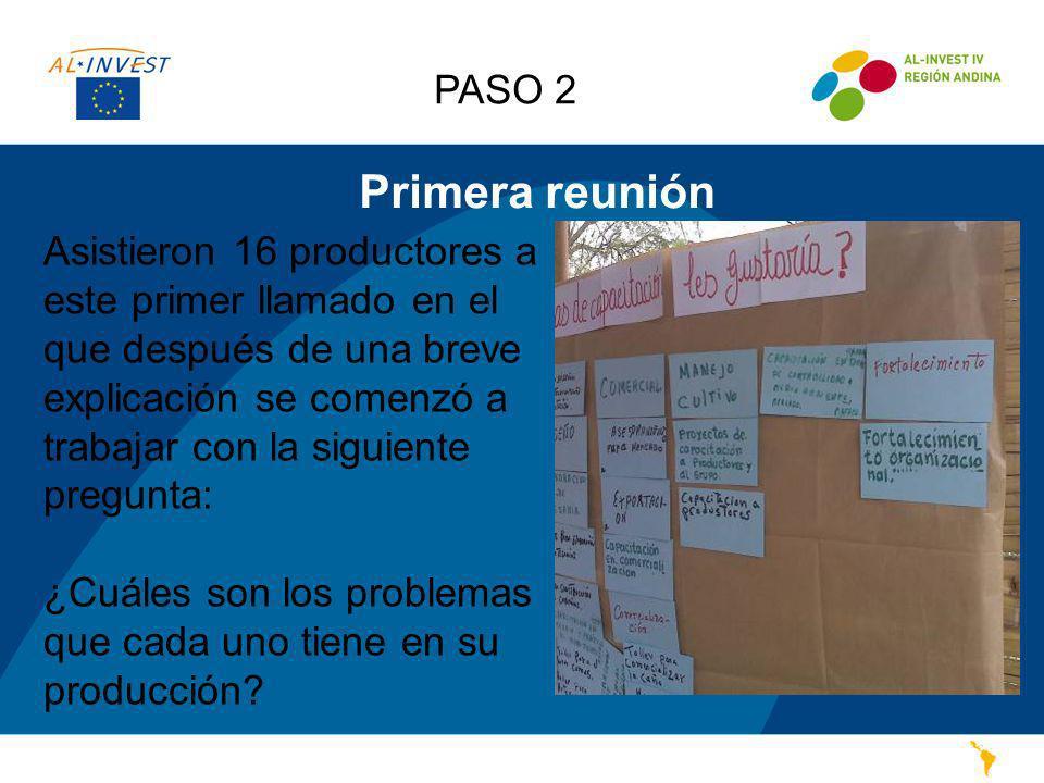 Problemas identificados PASO 2 Ellos comparten opiniones con respecto a la forma de trabajo, ya que anteriormente, otros organismos han prometido ayudarles, y no han visto resultados positivos.