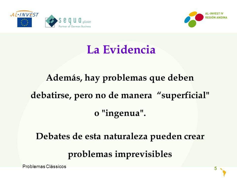 Problemas Clássicos 5 La Evidencia Además, hay problemas que deben debatirse, pero no de manera superficial