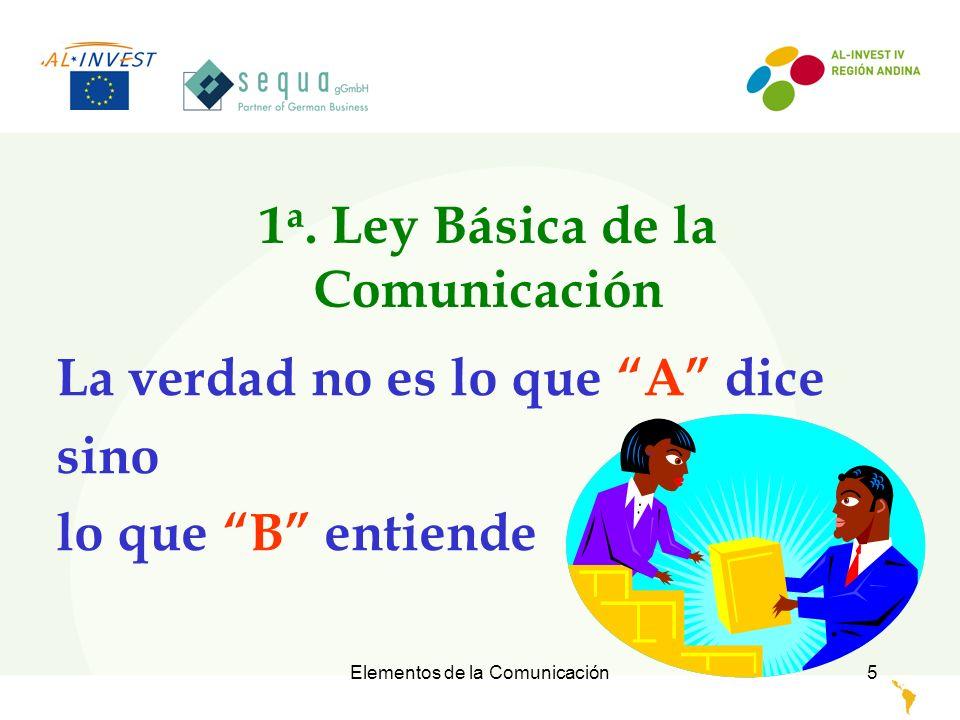 Elementos de la Comunicación 6 Sistemas de valores, prejuicios, resentimientos, etc., condicionan el procesamiento de un mensaje.