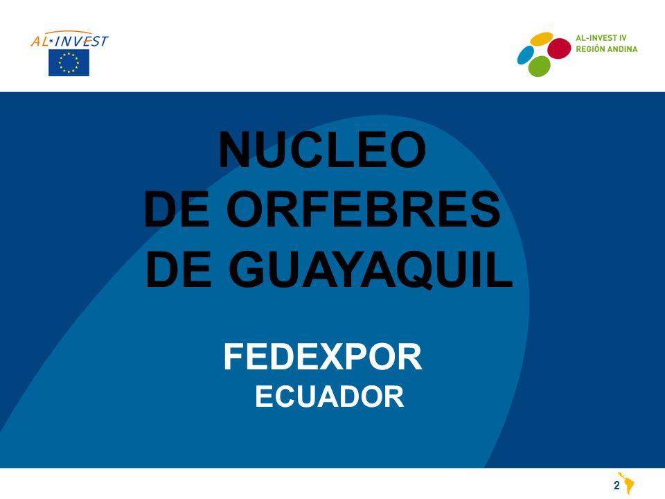 NUCLEO DE ORFEBRES DE GUAYAQUIL FEDEXPOR ECUADOR 2