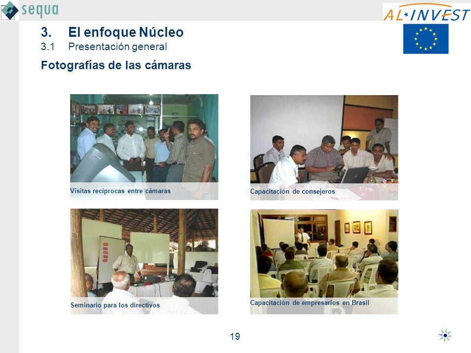 19 Seminario para los directivos Capacitación de empresarios en Brasil Capacitación de consejeros Visitas recíprocas entre cámaras Fotografías de las