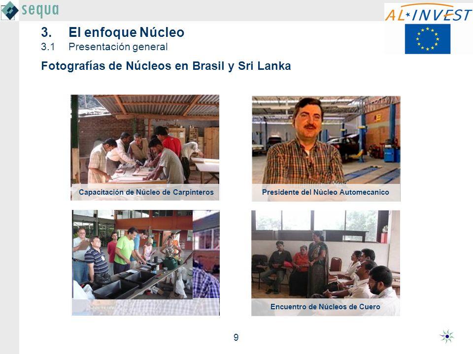 20 Entrega de premios del concurso de cámeras Ganadores del concurso de acitividades Participantes en el evento de los Núcleos Concurso de actividades de los Núcleos Evento de los Núcleos en 2005 en Sri Lanka con 900 empresarios 3.El enfoque Núcleo 3.1Presentación general