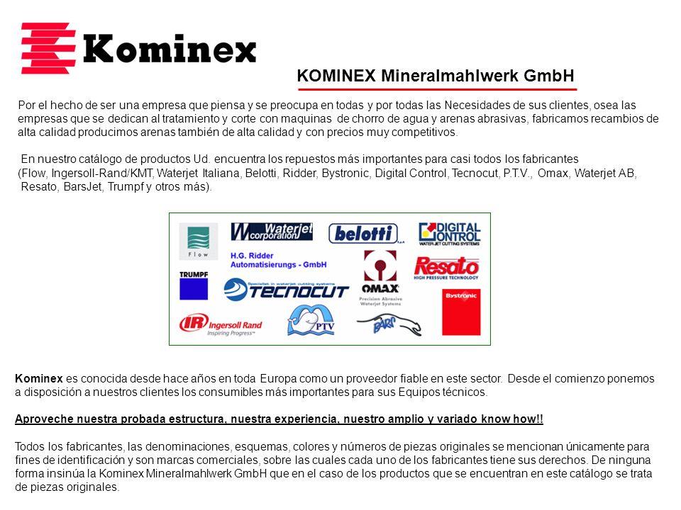 KOMINEX Mineralmahlwerk GmbH Por el hecho de ser una empresa que piensa y se preocupa en todas y por todas las Necesidades de sus clientes, osea las e