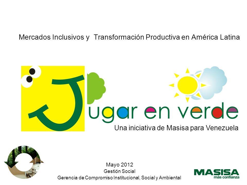 Mayo 2012 Gestión Social Gerencia de Compromiso Institucional, Social y Ambiental Mercados Inclusivos y Transformación Productiva en América Latina Una iniciativa de Masisa para Venezuela