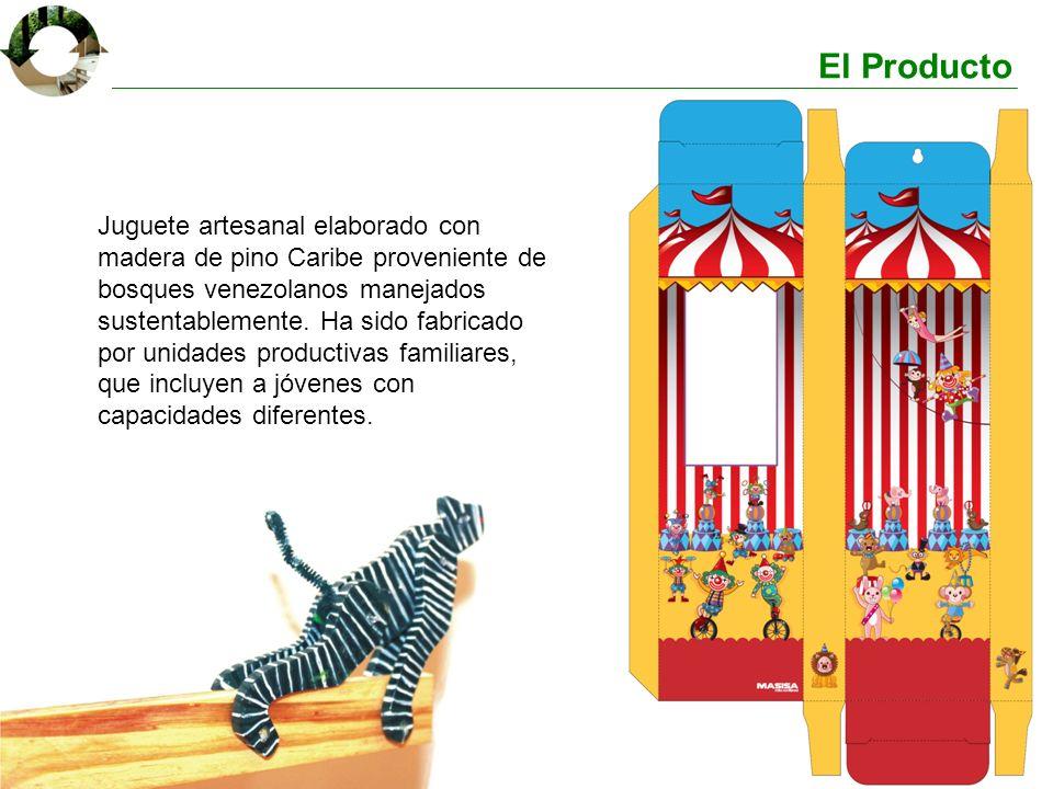 El Producto Juguete artesanal elaborado con madera de pino Caribe proveniente de bosques venezolanos manejados sustentablemente. Ha sido fabricado por
