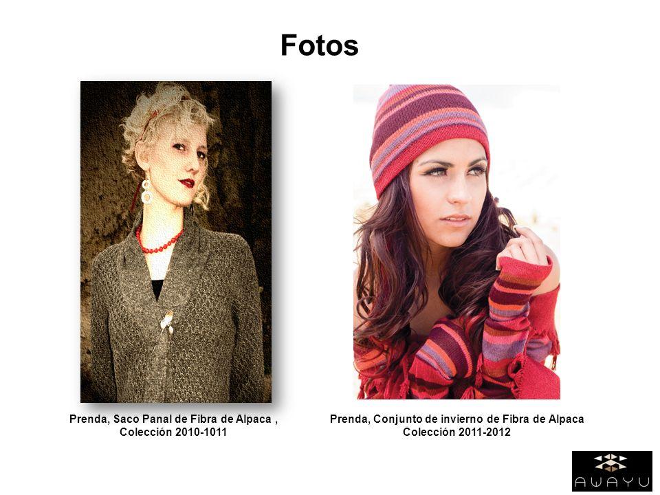 Fotos Prenda, Saco Panal de Fibra de Alpaca, Colección 2010-1011 Prenda, Conjunto de invierno de Fibra de Alpaca Colección 2011-2012