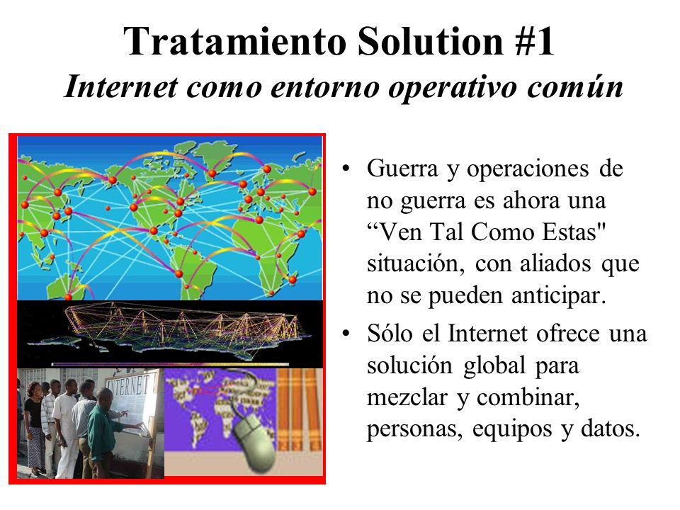 Tratamiento Solution #1 Internet como entorno operativo común Guerra y operaciones de no guerra es ahora una Ven Tal Como Estas situación, con aliados que no se pueden anticipar.