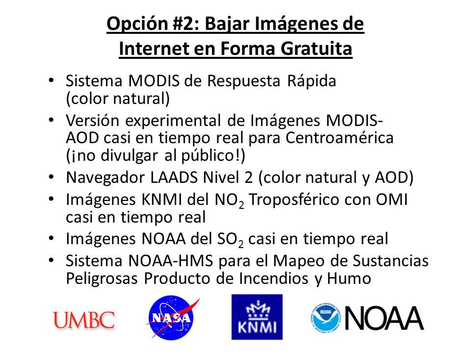 Imágenes KNMI del NO 2 Troposférico con OMI Casi en Tiempo Real http://www.temis.nl/airpollution/no2col/no2regioomi_col3.php