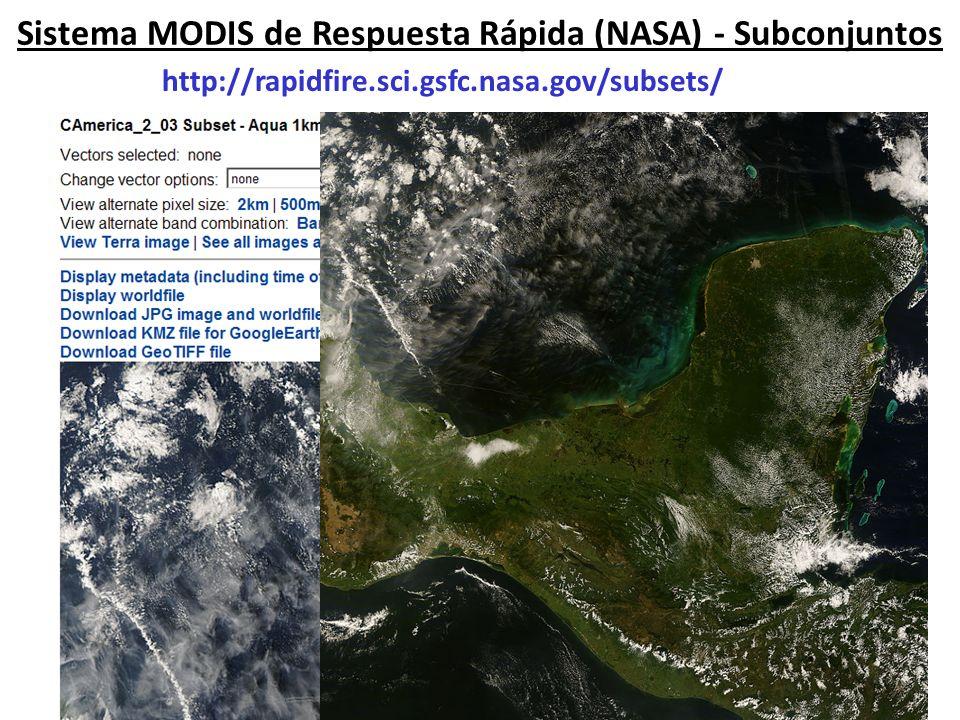 Versión Experimental de Imágenes MODIS-AOD Casi en Tiempo Real para Centroamérica http://idea.umbc.edu/~hzhang/MODIS/ Estas imágenes se ofrecen cortesía de Hai Zhang de la UMBC.