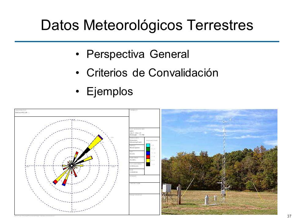 37 Datos Meteorológicos Terrestres Perspectiva General Criterios de Convalidación Ejemplos