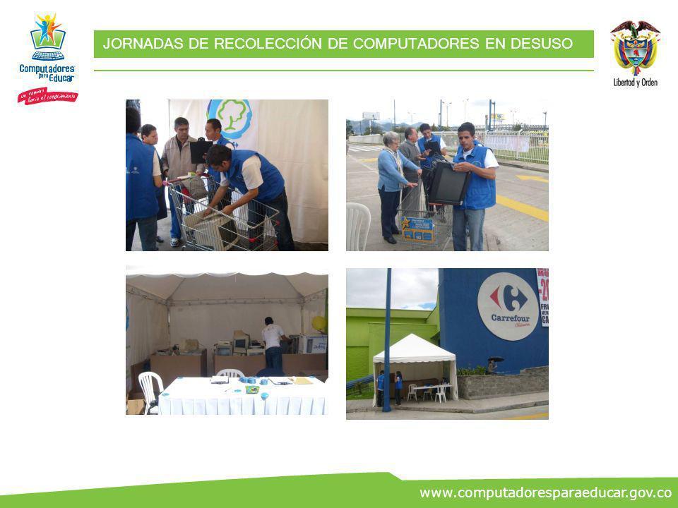 ww.co www.computadoresparaeducar.gov.co RESULTADOS JORNADAS DE RECOLECCIÓN 626Total donantes 334 Jornada 2 292 Jornada 1 TotalFecha Número de donantes
