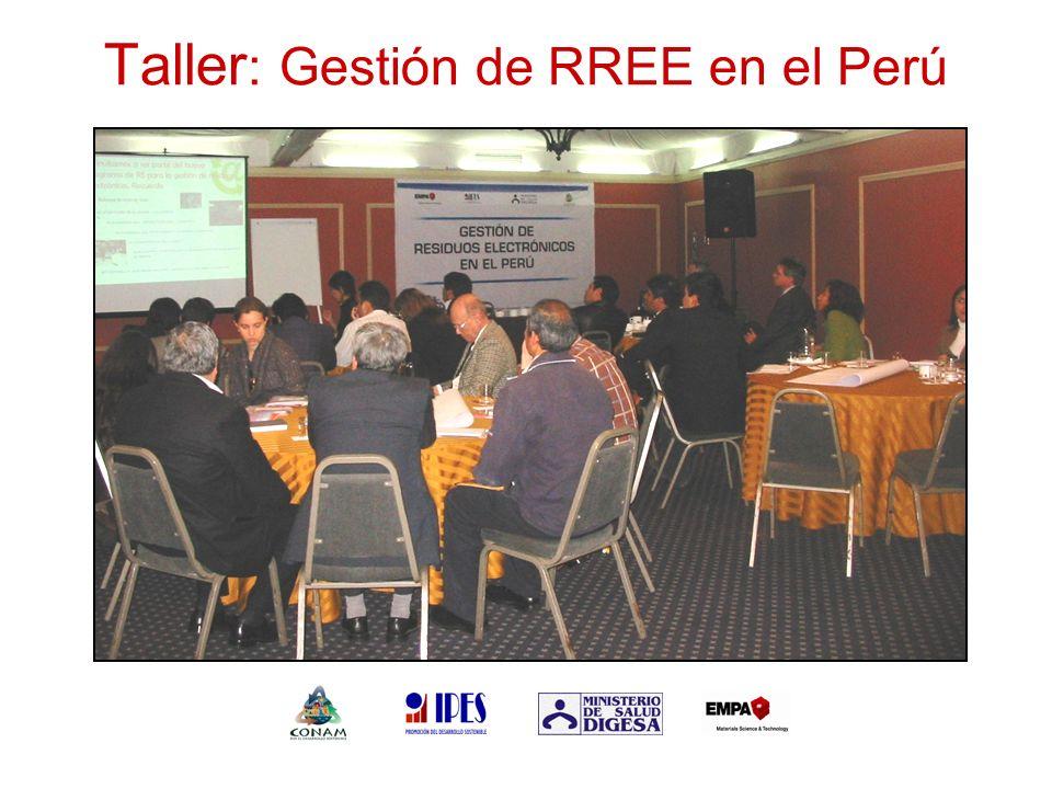 Taller : Gestión de RREE en el Perú Colocar foto del taller