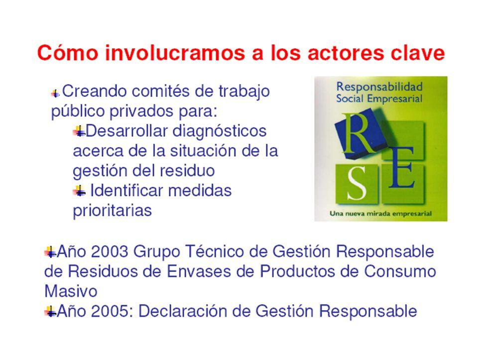 Factores no considerados: Firma de convenios con actores clave (etapa actual), Desarrollo de seminarios, eventos, Cambio de CONAM a Ministerio del Ambiente.