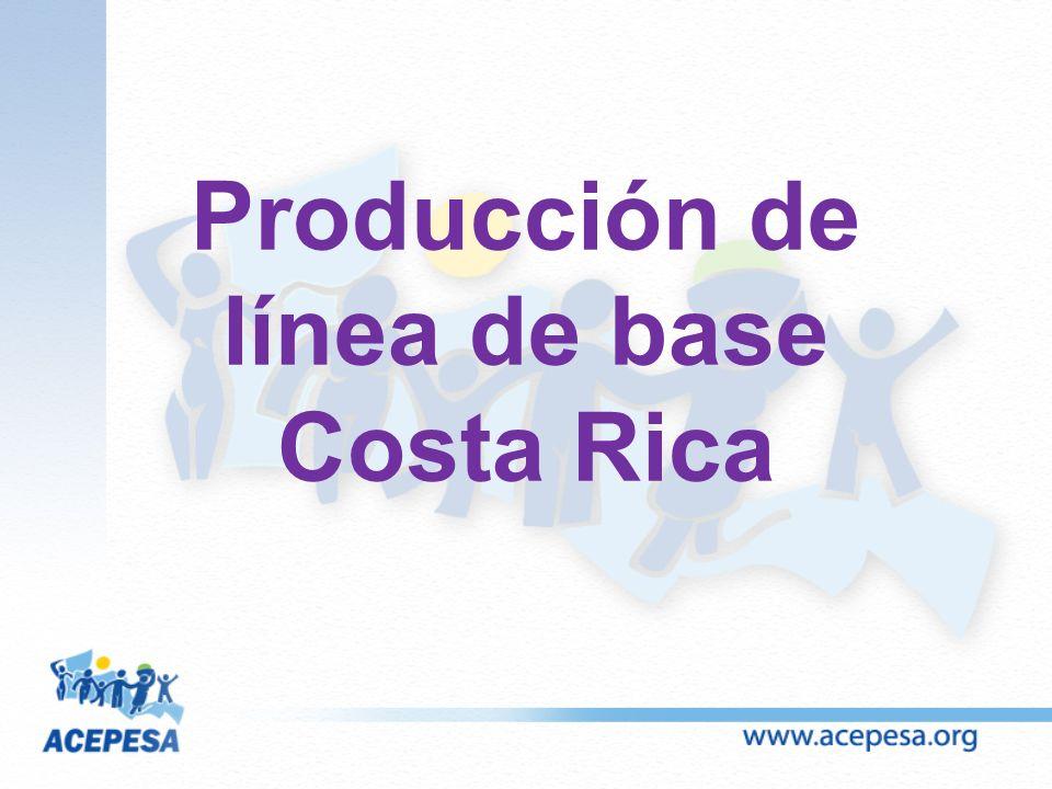 Producción de línea de base Costa Rica