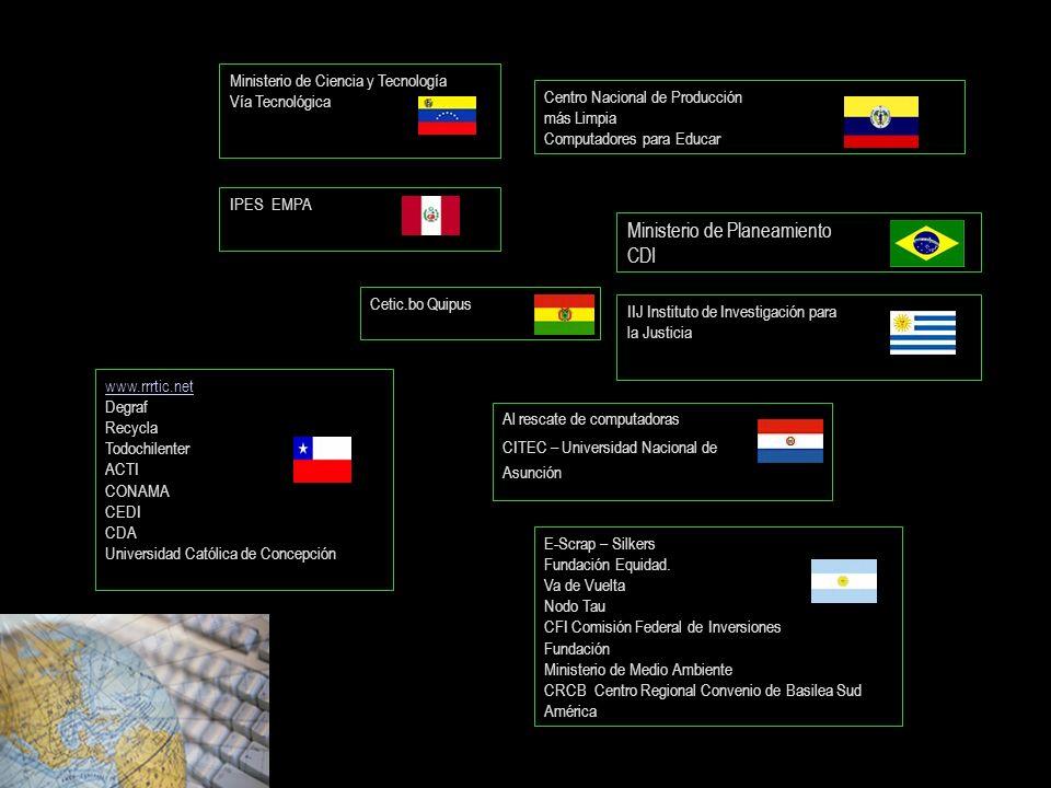 IIJ Instituto de Investigación para la Justicia www.rrrtic.net Degraf Recycla Todochilenter ACTI CONAMA CEDI CDA Universidad Católica de Concepción Mi