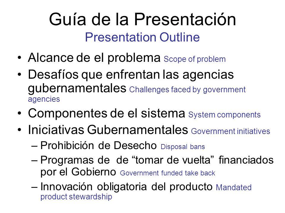 Guía de la Presentación Presentation Outline Alcance de el problema Scope of problem Desafíos que enfrentan las agencias gubernamentales Challenges fa