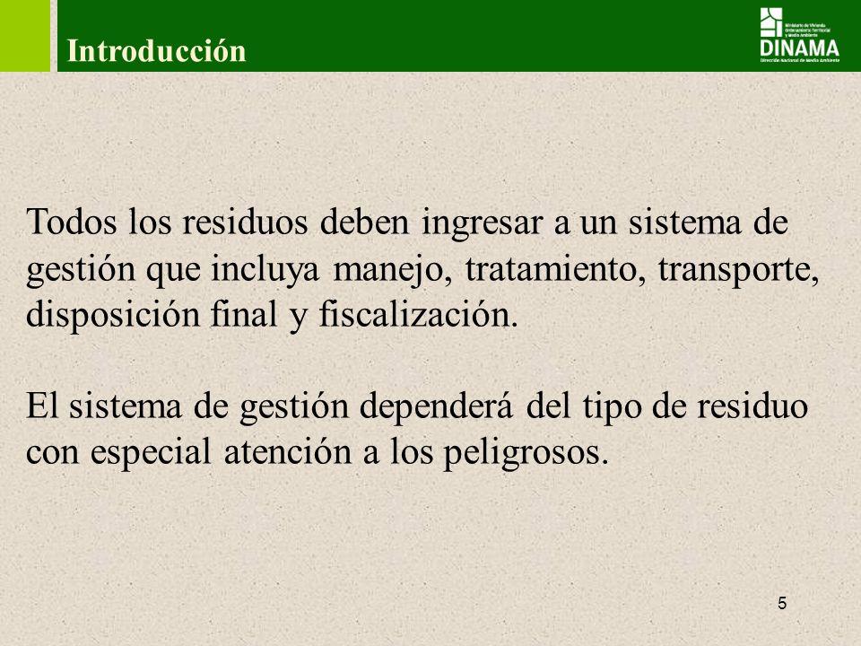 6 Escala Jerárquica Prevenir y minimizar la generación Aprovechamiento y valorización de residuos Tratamiento Disposición final Gestión de Residuos