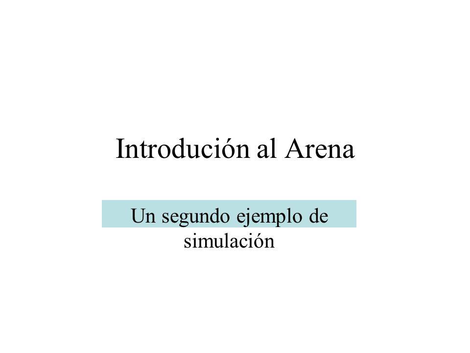 Introdución al Arena Un segundo ejemplo de simulación