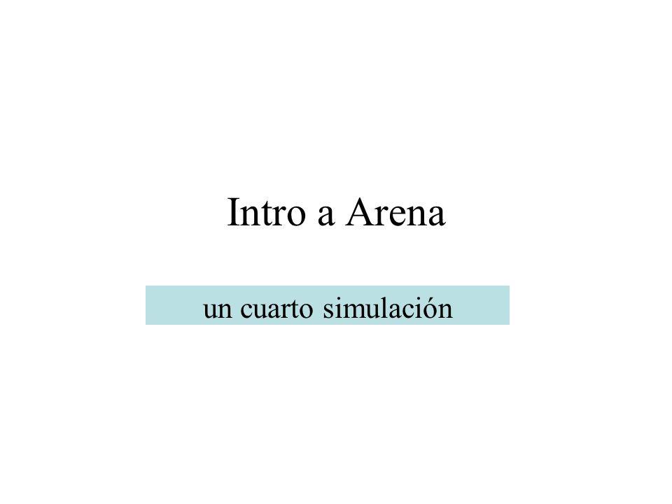 Intro a Arena un cuarto simulación