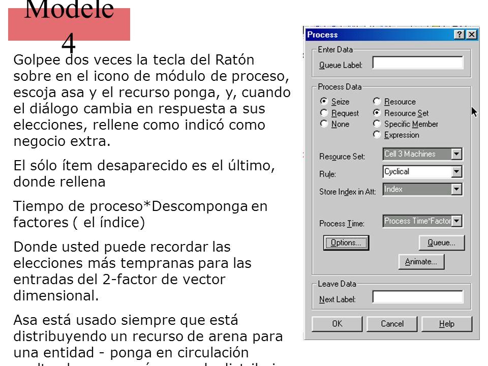 Modele 4 Golpee dos veces la tecla del Ratón sobre en el icono de módulo de proceso, escoja asa y el recurso ponga, y, cuando el diálogo cambia en respuesta a sus elecciones, rellene como indicó como negocio extra.