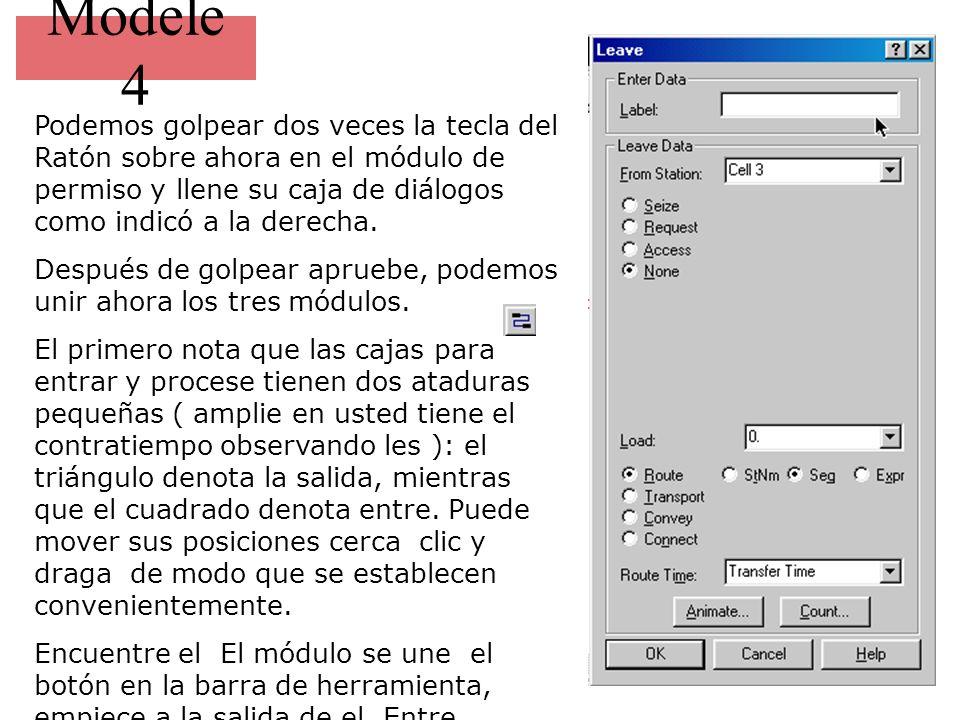 Modele 4 Podemos golpear dos veces la tecla del Ratón sobre ahora en el módulo de permiso y llene su caja de diálogos como indicó a la derecha.