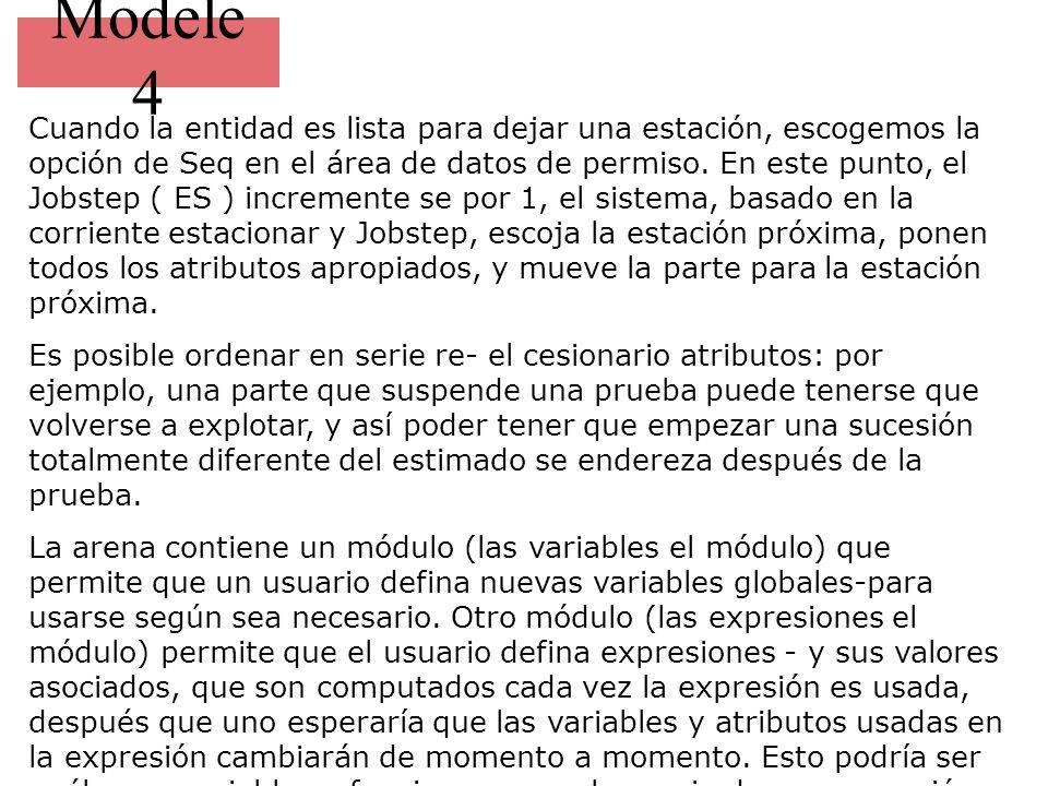 Modele 4 Cuando la entidad es lista para dejar una estación, escogemos la opción de Seq en el área de datos de permiso.
