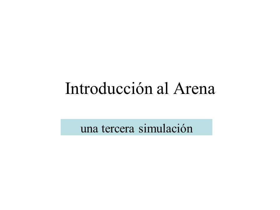 Introducción al Arena una tercera simulación