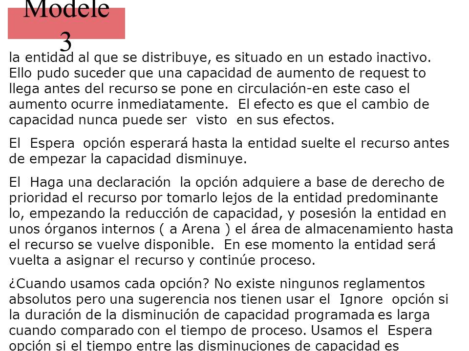 Modele 3 la disminución.El uso de el Haga una declaración la opción debe ser clara.