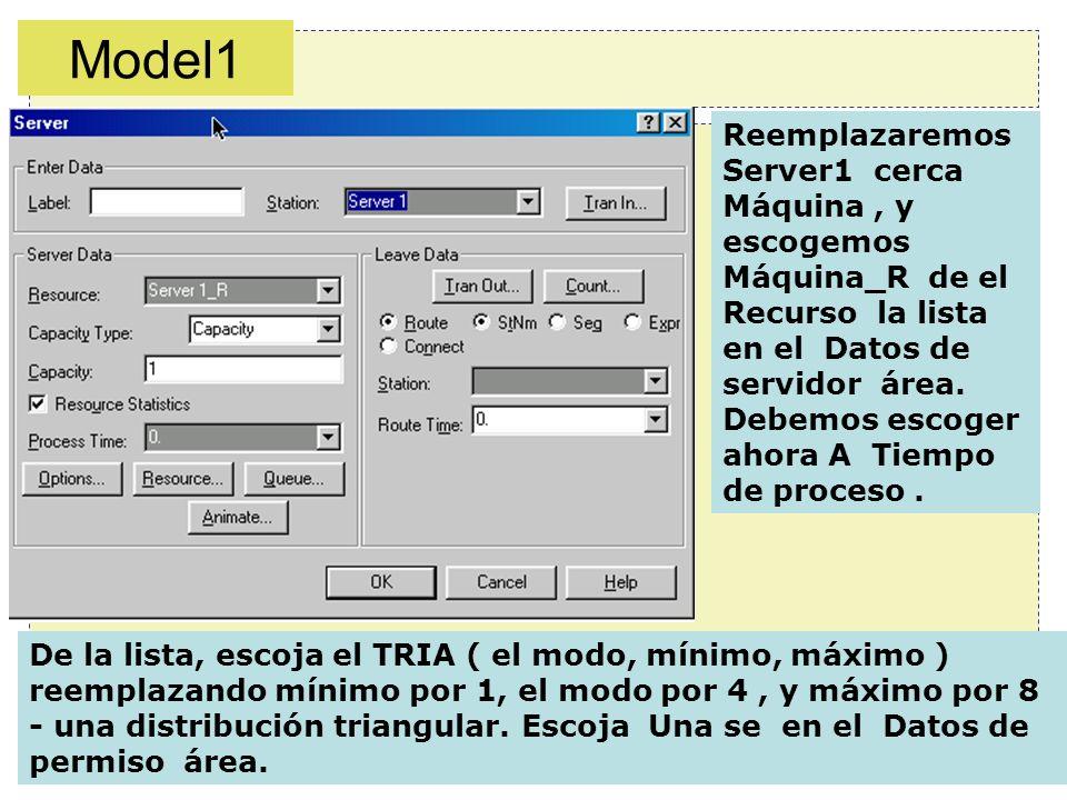 15/57 Reemplazaremos Server1 cerca Máquina, y escogemos Máquina_R de el Recurso la lista en el Datos de servidor área. Debemos escoger ahora A Tiempo