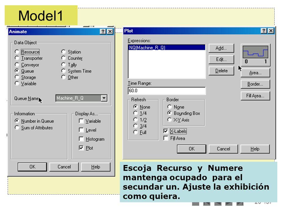 20/57 Escoja Recurso y Numere mantenga ocupado para el secundar un. Ajuste la exhibición como quiera. Model1