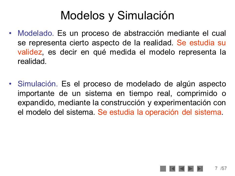 8/57 Ejercicio 1 1.¿Cuál es la diferencia entre modelado y simulación?.