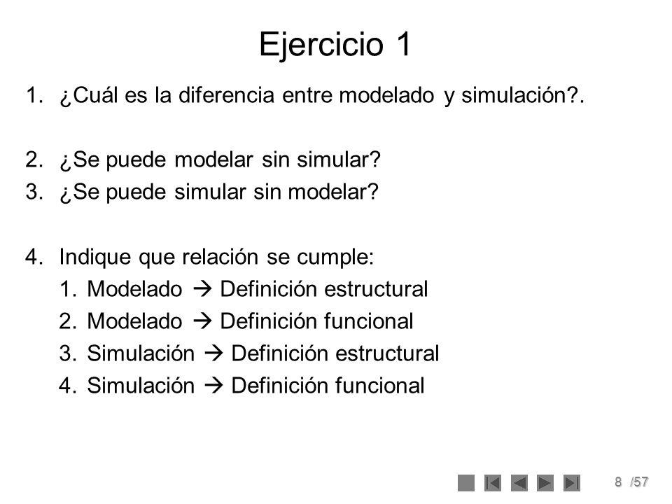9/57 Tipos de Sistemas de Simulación Sistemas Continuos.