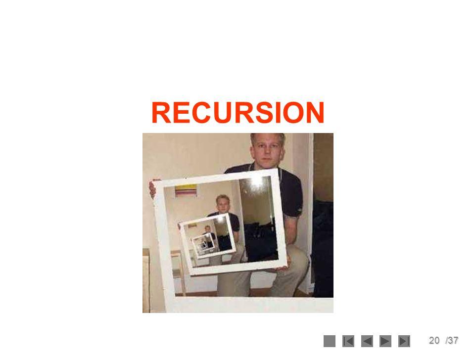 20/37 RECURSION