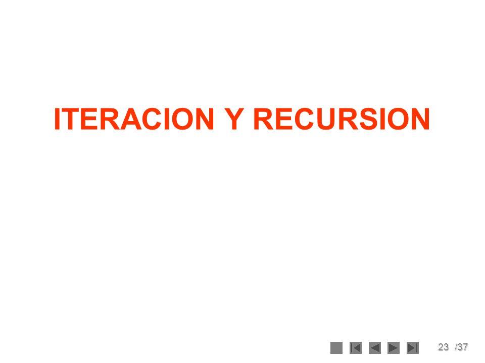 23/37 ITERACION Y RECURSION
