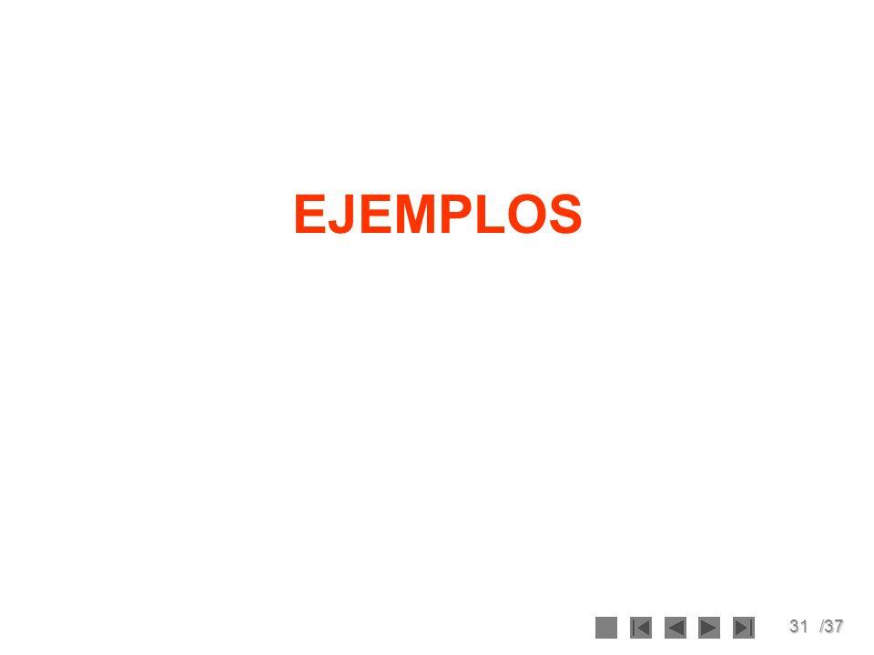 31/37 EJEMPLOS
