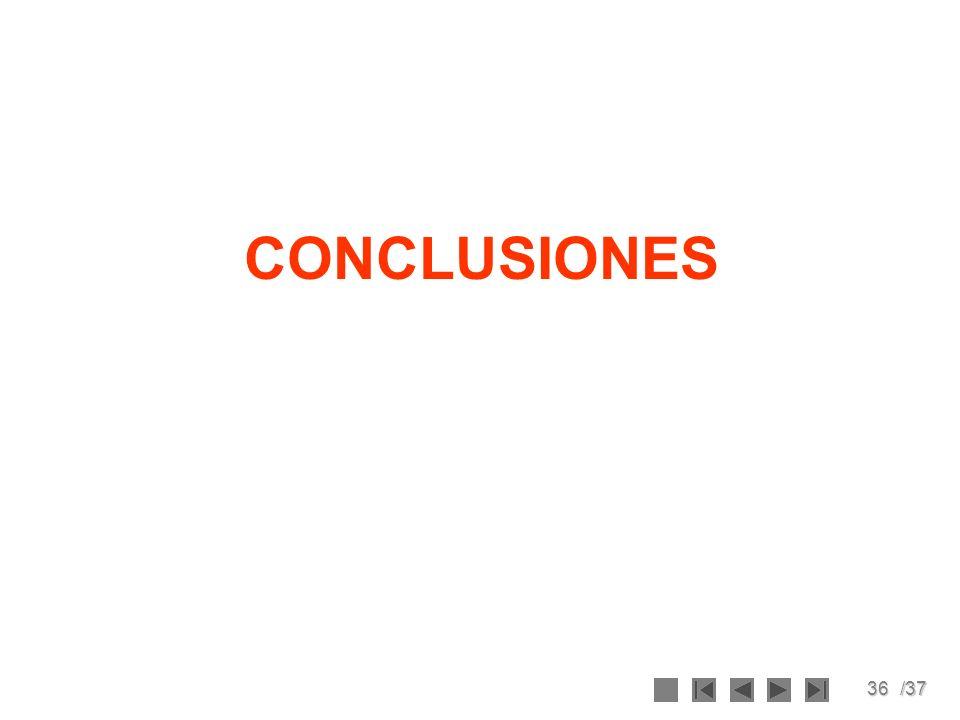 36/37 CONCLUSIONES