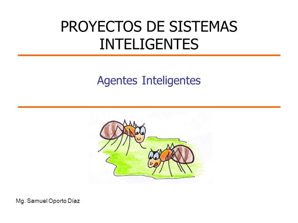 Mg. Samuel Oporto Díaz Agentes Inteligentes PROYECTOS DE SISTEMAS INTELIGENTES