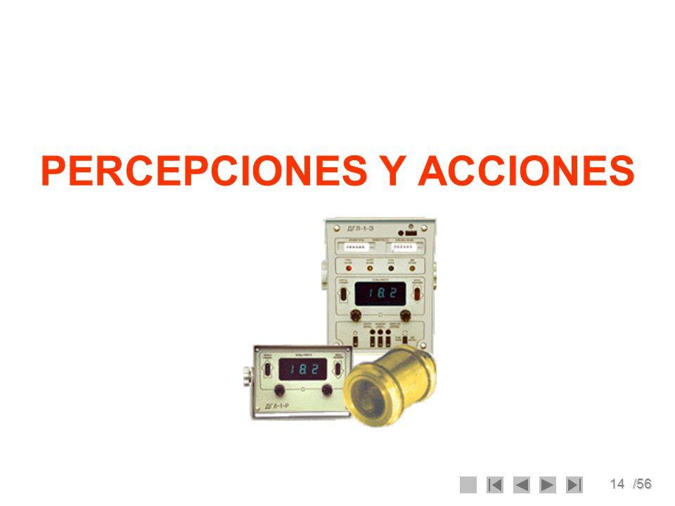 14/56 PERCEPCIONES Y ACCIONES