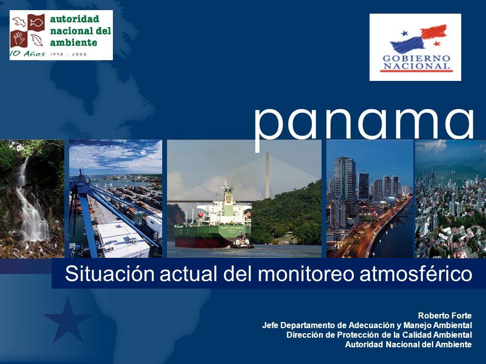 Situación actual del monitoreo atmosférico Roberto Forte Jefe Departamento de Adecuación y Manejo Ambiental Dirección de Protección de la Calidad Ambi