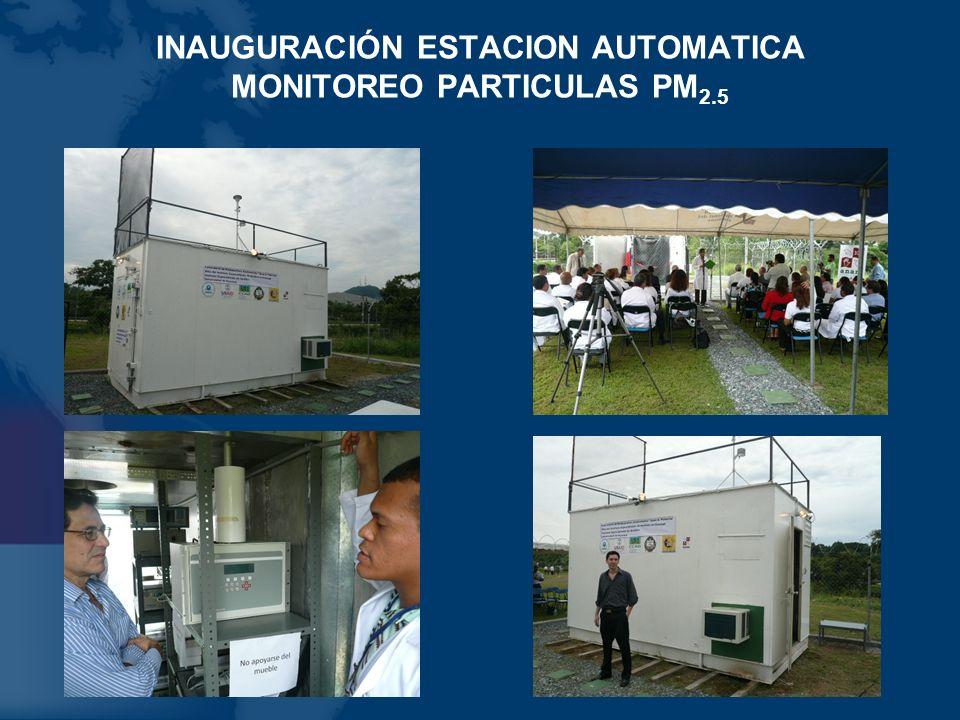 INAUGURACIÓN ESTACION AUTOMATICA MONITOREO PARTICULAS PM 2.5