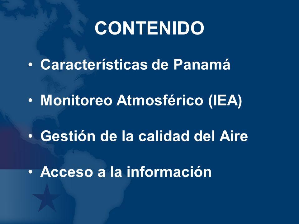 Características de Panamá 75, 517 km2 3.2 millones de habitantes 1.3 millones de habitantes (40%) AM 557,000 vehículos registrados AM 402,196 viviendas AM Consumo energético: 380, 680, 472 galones anuales Actividades económicas: 21,023 –1,627 Industrias manufactureras –800 pertenecen a la provincia de Panamá.