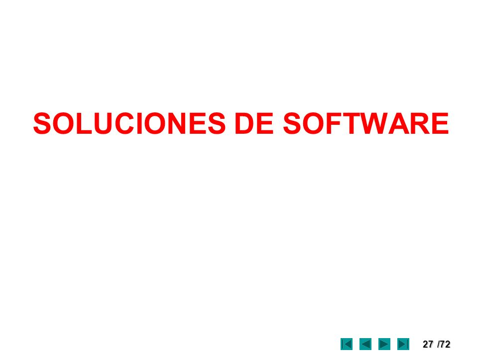 27/72 SOLUCIONES DE SOFTWARE