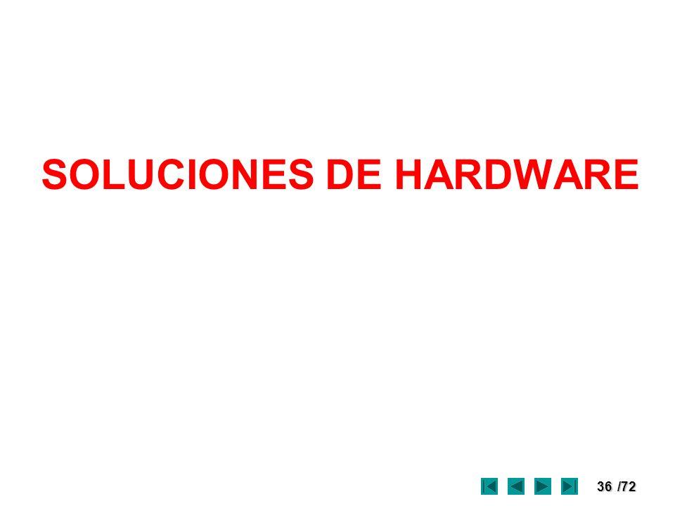 36/72 SOLUCIONES DE HARDWARE