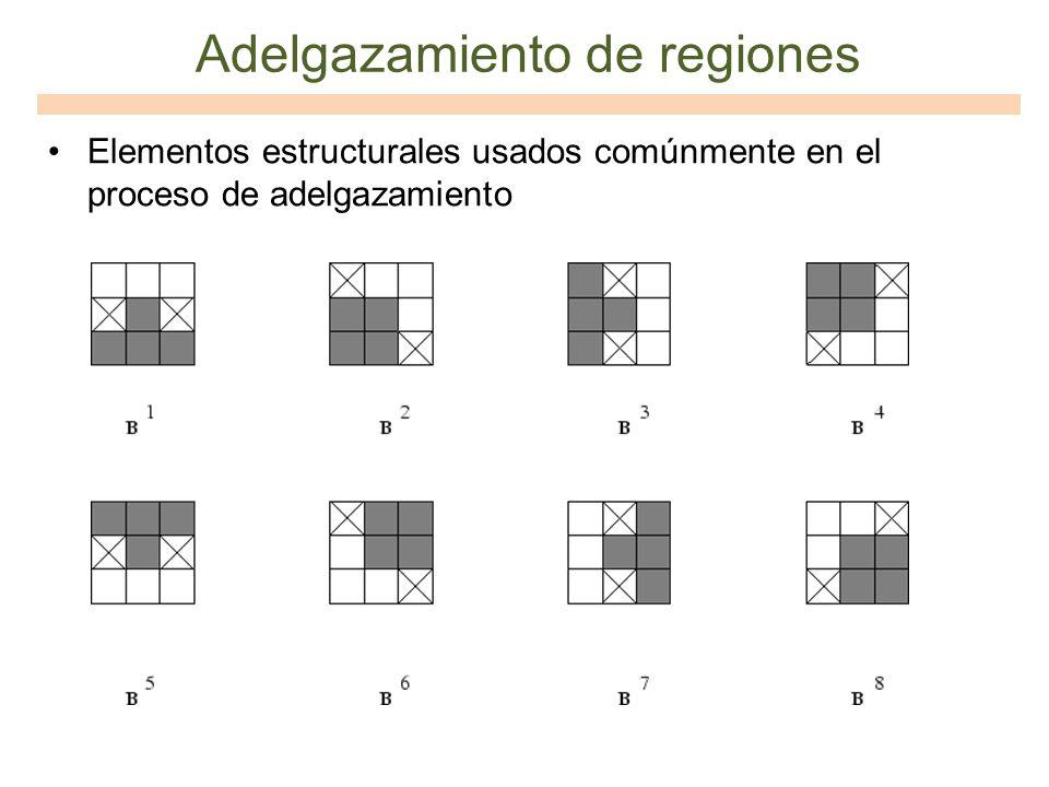 Adelgazamiento de regiones Elementos estructurales usados comúnmente en el proceso de adelgazamiento