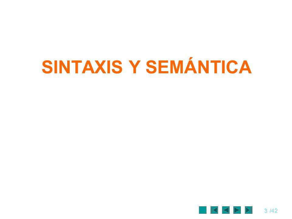 3/42 SINTAXIS Y SEMÁNTICA