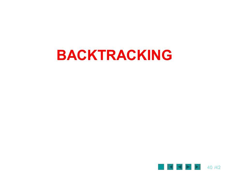 40/42 BACKTRACKING
